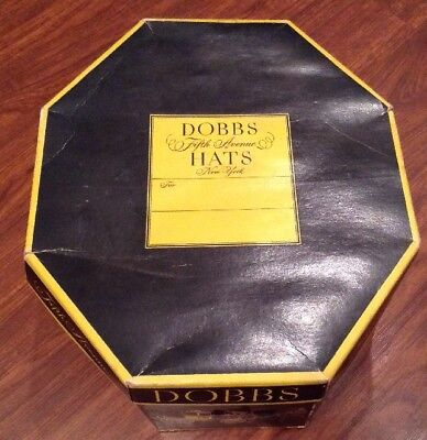 Vintage Dobbs Fifth Avenue New York Brown Fedora Hat men's retro w/ Box  7