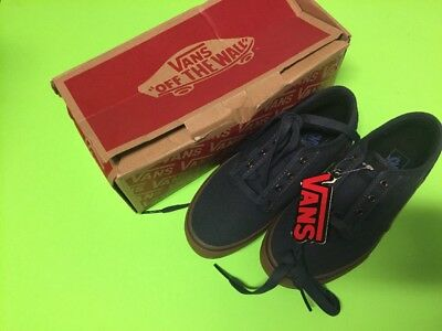 b79983aaa59 NEW IN BOX Boys Vans Atwood Skate Shoes size 3 Navy Gum Canvas ...