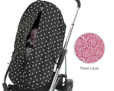 Outlook Sleep Ezy Pram Cover - Rose Lace