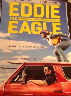 "USED IN THEATERS!! ORIGINAL 27""x40"" CINEMA MOVIE POSTER Eddie The Eagle"