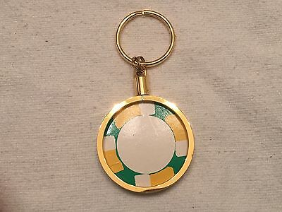 Casino Chip Keyring Gold Plated-ADD YOUR OWN CHIP Pocket Watch Style Keychain