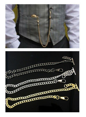 Single Albert Pocket Watch Chains in Gold Silver or Black - FREE Aus Postage