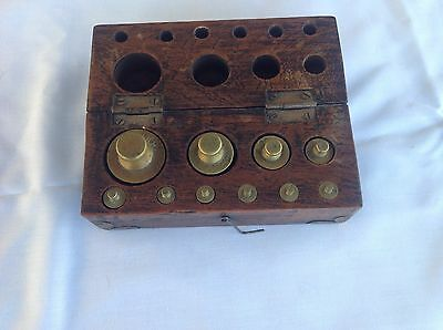 Apothecary Weights In Box