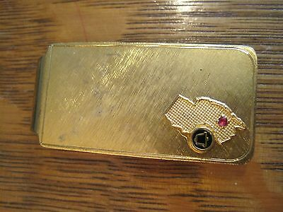 RARE new jersey bell money clip red stone SERVICE pin AWARD PENDANT