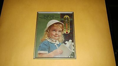 Vintage Willow Dairy Farm Therometer/calendar 1960 Wantagh,l.i. Advertising