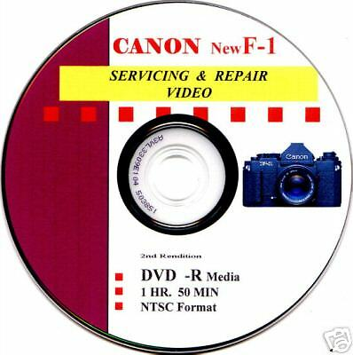 CANON F-1   Master Servicing & Repair Video on DVD  :o)