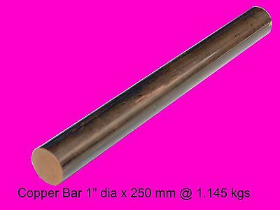 "Copper Bar 1.0"" dia x 250 mm-Steam-Sculpture-OG"