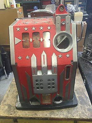 Pace Comet 25 Cent With Gold Award Slot Machine Italian Conversion