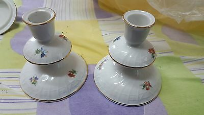 Porcelain Hutschenreuther two art deco candle holders candlesticks Germany