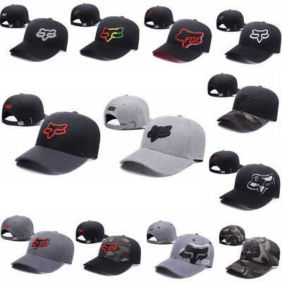 2017 Fashion Fox Racing Men Boxed Snapback Trucker Hat Hip-Hop Adjustable Cap AU