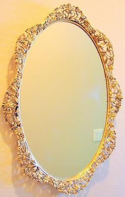 "Fabulous Vintage Matson Daisy Pattern 21"" X 15.5"" Vanity Mirror Tray From Estate"