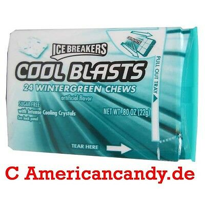10x Ice Breakers Cool Blasts Wintergreen Chews best before 31.5.2017  8,63€/100g