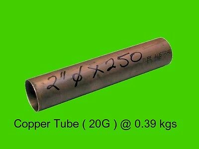"Copper Round Tube 2"" dia x 250 mm-Steam-Lathe-Mill-Model-OG"