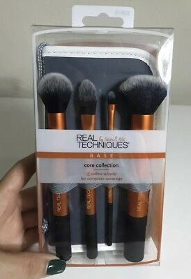 ⭐️ REAL TECHNIQUES ⭐️Makeup Brush - Core Collection ~Starter Set ~BASE ~4 TOOLS