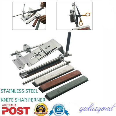 Pro Fix-Angle Knife Sharpener Stainless Steel Sharpening System Edge Cutlery AU!