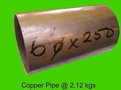 "Copper Round Tube 6"" dia x 250 mm-Steam-Lathe-Mill-Model-OG"