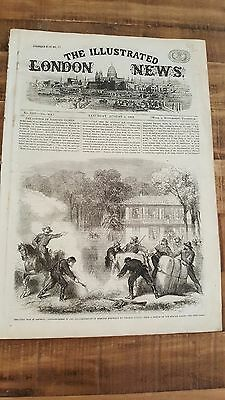 HISTORIC August 9, 1862 Newspaper / THE ILLUSTRATED LONDON NEWS