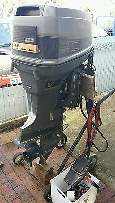 Outboard Motor - Suzuki - 90hp Vfour - good condition mid 1990s