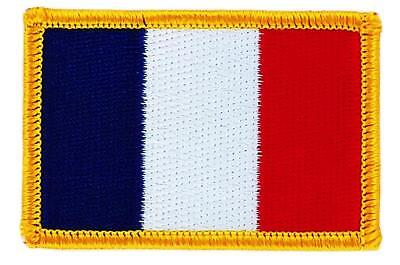 Patch écusson brodé Drapeau FRANCE français  Thermocollant  Insigne Blason