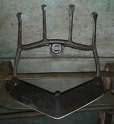 2 sided Antique Hand Plow Garden Cultivator Attachment Dual Purpose Farm Tool!