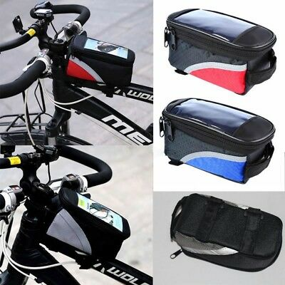 Bike Bicyle Front Top Tube Pannier Bike Frame Storage Bag for Mobile Phone iPod