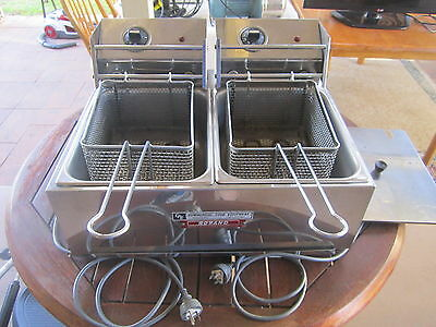 Roband Double Deep Fryer Electric Cooking Equipment | Electric Deep Fryers