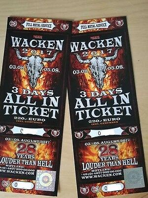 Wacken 2017 - 3 Days All In Tickets