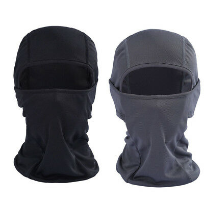 Black Outdoor Motorcycle Full Face Mask Lycra Balaclava Ski Neck Protection hat