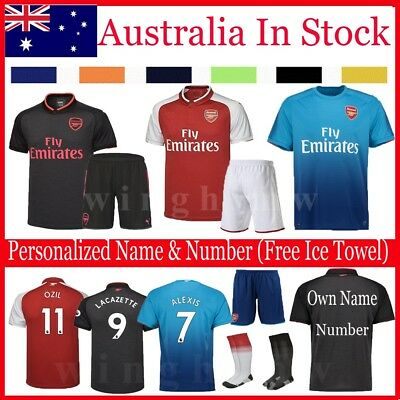 16-17-18 Football Soccer Jersey Short Sleeve Kits kids Boy Sportswear Suit+Socks
