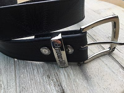 Black PU/Leather Armourdillo Belt Size S