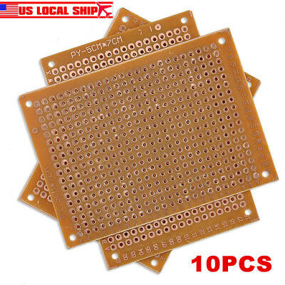USA 10Pcs 5x7 cm DIY Prototype Paper PCB fr4 Universal Board prototyping pcb kit