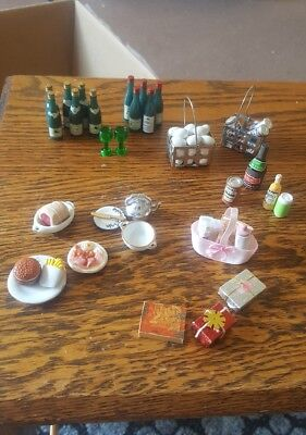 Dolls house bundle of accessories food drink and more