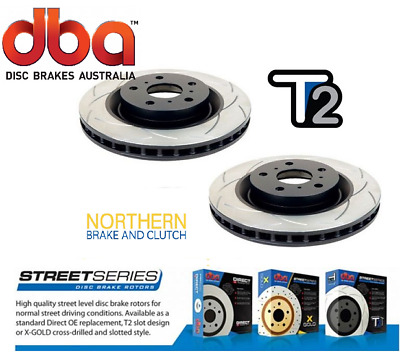 DBA T2 FRONT SLOTTED ROTORS suits HOLDEN VE 6.0L V8 321mm