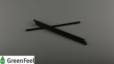 BLACK JUMBO Smoothie/Milkshake DRINKING STRAWS 8mm Birthday Party Take Away 500