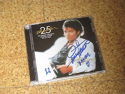 RAR! MICHAEL JACKSON 25 Anniversary Thriller CD handsigniert QUINCY JONES !!