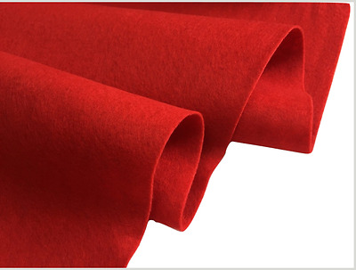 FELT FABRIC Material Craft Plain Colours Polyester 102cm Wide RED