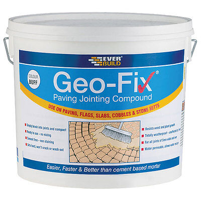 Everbuild Geo Fix Ready Mixed Paving Jointing Compound Buff 20Kg Geofix