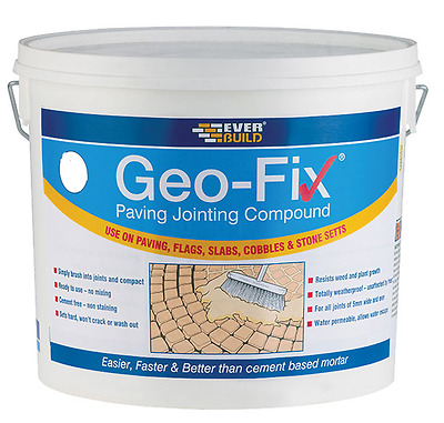 Everbuild Geo Fix Ready Mixed Paving Jointing Compound Grey 20Kg Geofix