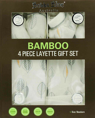 Bubba Blue Bamboo Leaf 4 Piece Layette Set