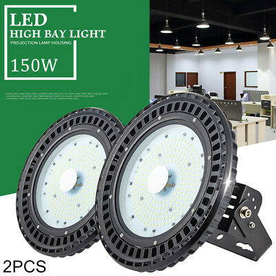 2X 150W UFO LED High Bay Light Warehouse Industrial Factory Security Shed Lamp