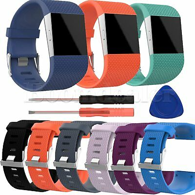 Replacement TPE Wristband Strap w/Tool for Fitbit Surge GPS Smart Watch Bracelet