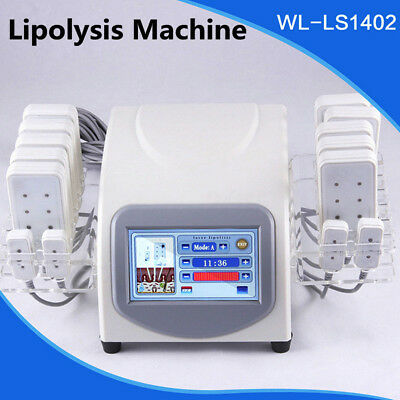 14 Laser Pads Slimming Fat Removal Lipo Lipolysis Body Massage Beauty Machine