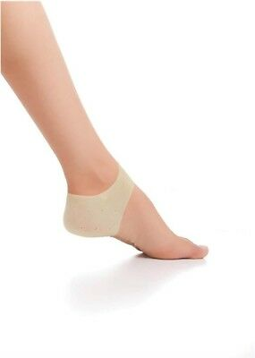 Pair of Aidapt Gel Heel Spur Ankle Protector Support Brace Pads Clear Silica