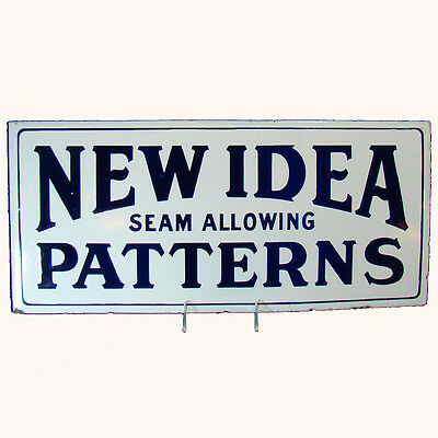 New Idea Patterns Iron and Enameled Double Sided Advertising Sign