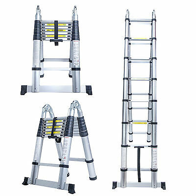 Keraiz®-5M Aluminum Telescoping Extension Ladder Portable Multi-Purpose Folding