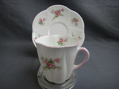 Shelley ROSE SPRAY Demitasse Cup & Saucer ~ Dainty Shape~