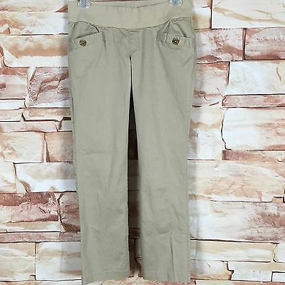 Women's Old Navy Low Rise Maternity Khaki Casual Pants  Stretch Size Large