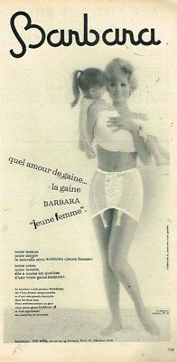 D- Publicité Advertising 1963 Lingerie gaine Barbara