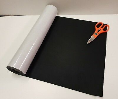 One Metre x 450mm wide roll of BLACK STICKY BACK SELF ADHESIVE FELT / BAIZE