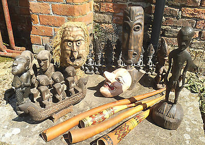 Indonesian Tribal Wood Carvings/Artefacts